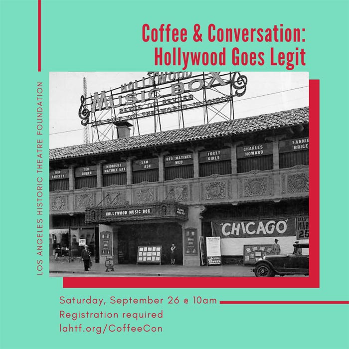 Coffee & Conversation: Hollywood Goes Legit!