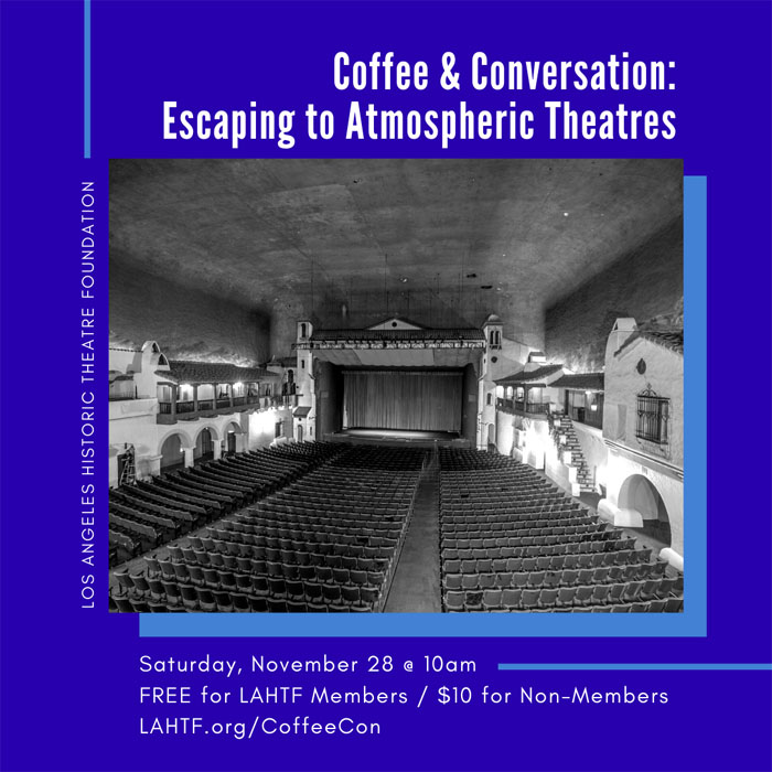 Coffee & Conversation: Escaping to Atmospheric Theatres