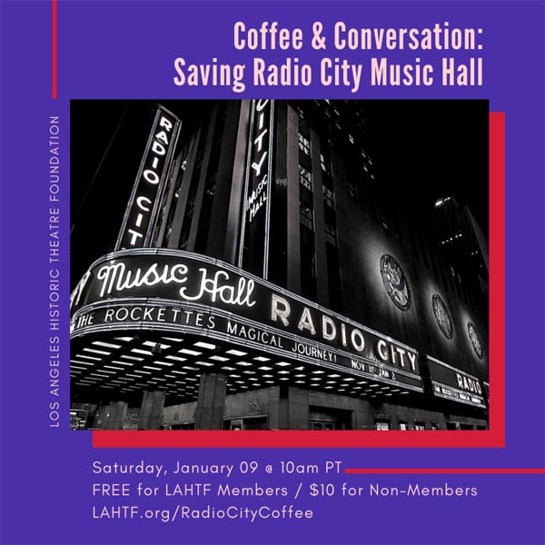 Coffee & Conversation: Saving Radio City Music Hall