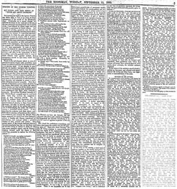 "Review of the opening night from ""The Scotsman"" of 11th September 1883, courtesy Johnston Press Plc, scanned online by the British Newspaper Archive (1MB PDF)"