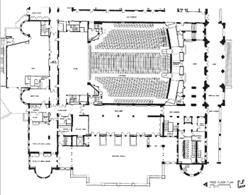 Orchestra-level Plan (2010) courtesy of the Royce Hall website